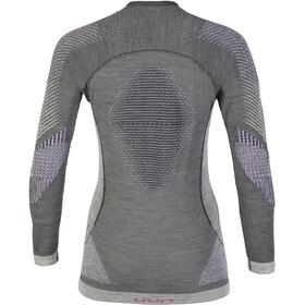 UYN Fusyon UW LS Shirt Women Anthracite/Purple/Pink